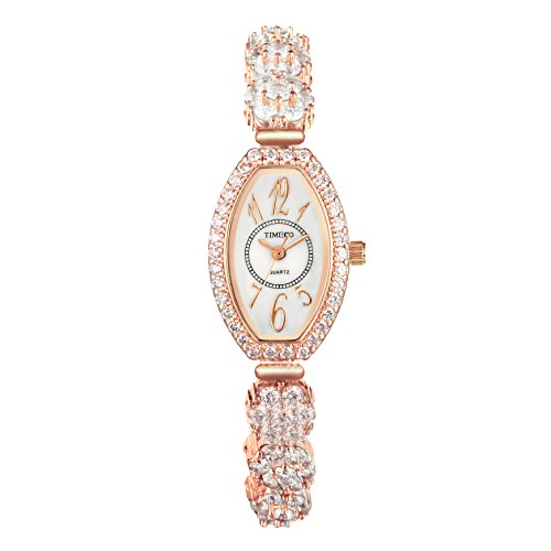 TIME100 NEU Damen Armkettearmbanduhr Diamant Analog Quarz Strass W50369L 03A