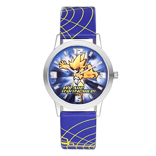 Time100 Cartoon analog Kinderuhr Jungen Blau W30026L 01A