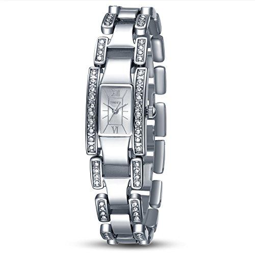 TIME100 Diamant Skelett Square Analog Quarz Edelstahl W50159L 01A