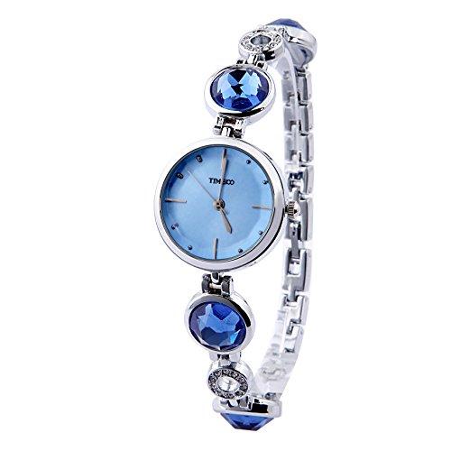 Time100 moderne Diamond Quarzuhr Blau W50187L 02A