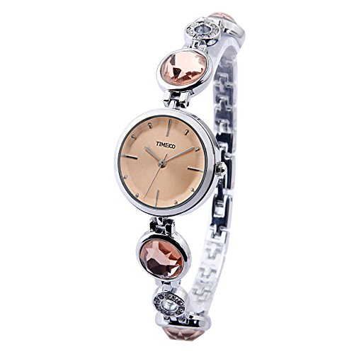 Time100 moderne Diamond Quarzuhr Gelb W50187L 03A