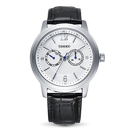 Time100 Business Style Leder Band Armbanduhr Quarz Analog Uhr W70153G 01A