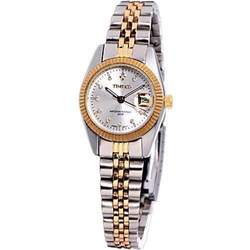Time100 Klassische Business Liebespaar Frauen Armbanduhr Gold W80027L 03A