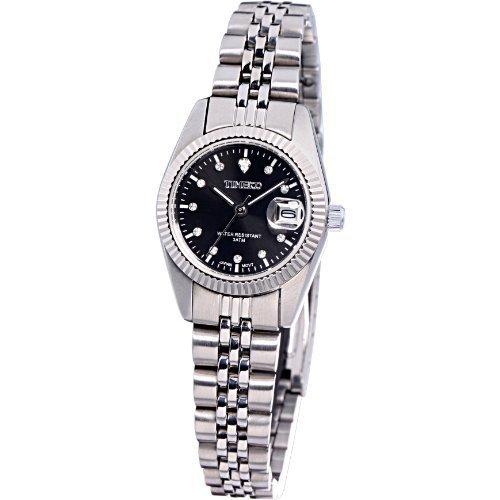 Time100 Klassische Business Liebespaar Frauen Armbanduhr Schwarz W80027L 02A