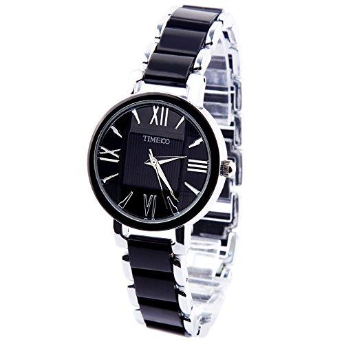 Time100 moderne Armbanduhr fuer Damen und Maedchen Anlage Uhr Edelstahl rund W50190L 03A