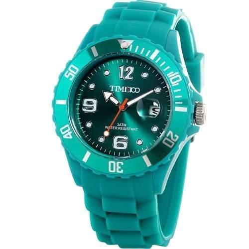 Time100 Umweltfreundliche Kreative Moderne Gelee-HerrenDamen-Armbanduhr Blau W40012M03A