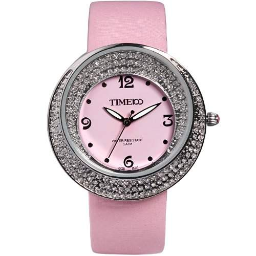 Time100 Schoene Luxurioese Strass-Damen-Armbanduhr W50041L02A