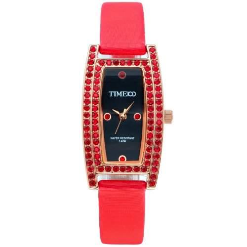 Time100 Westliche Modische Reizende OL Edelstein-Damen-Armbanduhr mit vornehmem Bogen W50044L02A