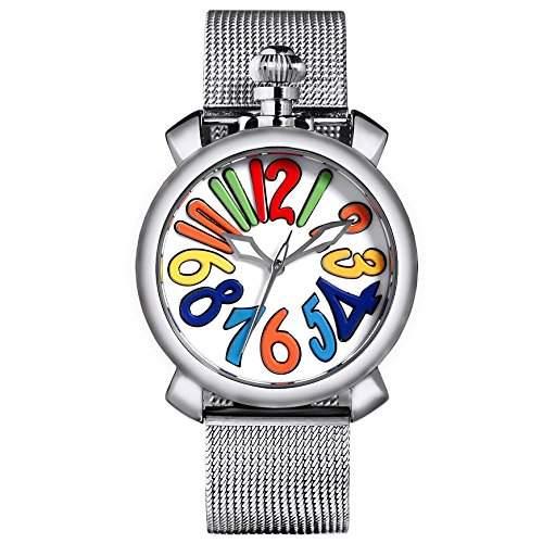 Time100 Reizende GaGa-stilistische Frabige Emaille-Damen-Armbanduhr W50046L07A