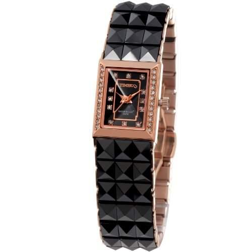 Time100 Koreanische Strass-Damen-Armbanduhr mit Keramiken-Armband W50055L02A