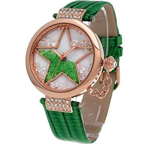 Time100 Modische Strass-Damen-Armbanduhr mit Stern-Musterung W50058L01A