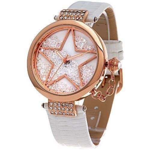 Time100 Modische Strass-Damen-Armbanduhr mit Stern-Musterung W50058L04A