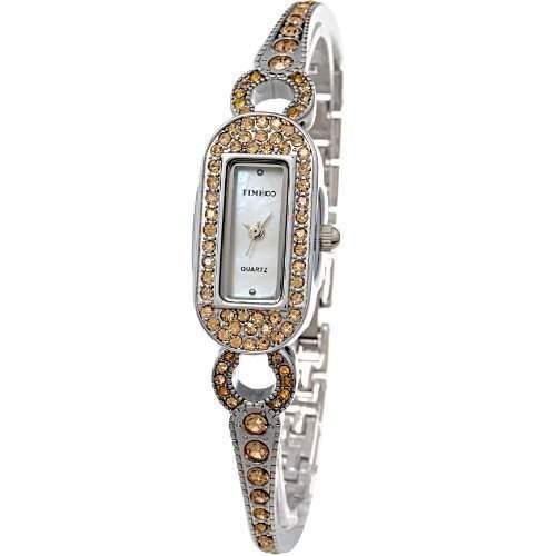 Time100 Scheinende Modische Damen-Armbanduhr mit Handkette und Muschel-Zifferblatt W50062L01A