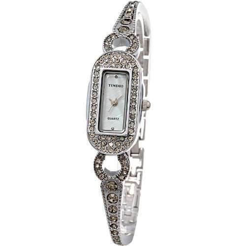 Time100 Scheinende Modische Damen-Armbanduhr mit Handkette und Muschel-Zifferblatt W50062L02A