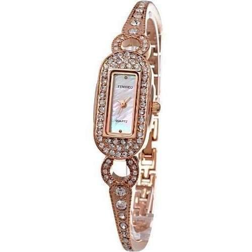 Time100 Scheinende Modische Damen-Armbanduhr mit Handkette und Muschel-Zifferblatt W50062L03A