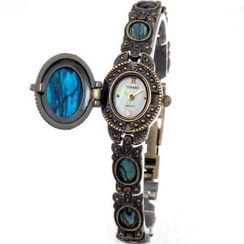 Time100 Franc-Serie Klassische Kunstvolle Armbanduhr mit schoener Handkette W50064L02A