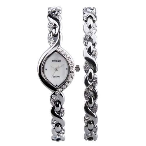 TIME100 Damen Armbanduhr Diamant Shell Analog Quarz #W50119L01A