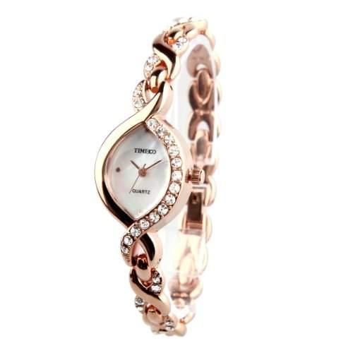 Time100 moderne Diamond Damenuhr Maedchenuhr Armbanduhr #W50119L02A