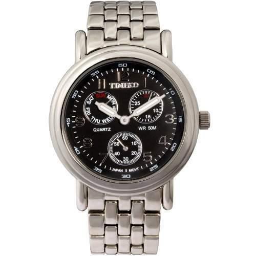 Time100 Herrenchronograph Uhr Armbanduhr Herrenuhr Quarz Edelstahl Schwarz W70011G02A