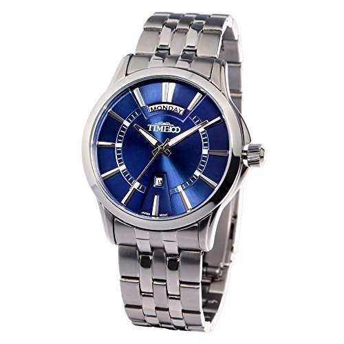 Time100 Herrenuhr Edelstahl Blau Business-Herren-Armbanduhr W80001G01A