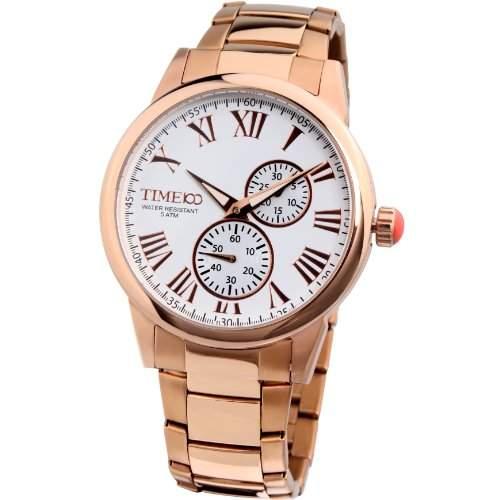 Time100 Herrenuhr Edelstahl Chronograph Herren-Armbanduhr Blau W80004G03A