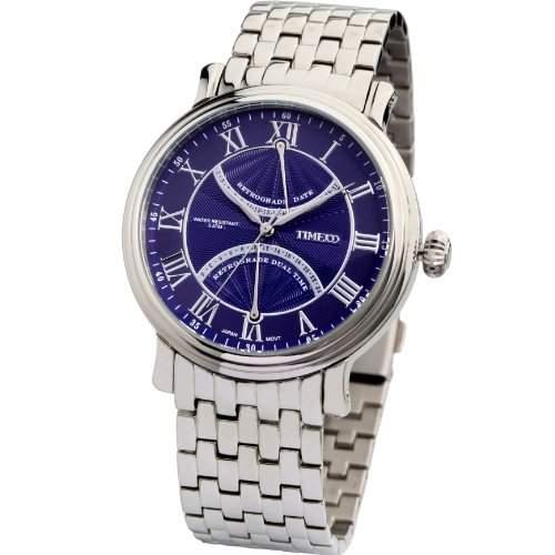 Time100 Englische Klassische Herren-Armbanduhr mit romanischen Nummern W80005G01A