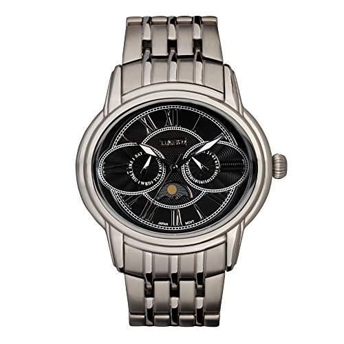 Time100 Eule-Mondphase-Herren-Armbanduhr mit zwei Anzeigen W80006G03A