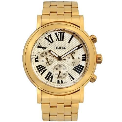 Time100 Moderne Herren-Armbanduhr mit romanischen Nummern-Skalas und drei Anzeigen W80009G02A