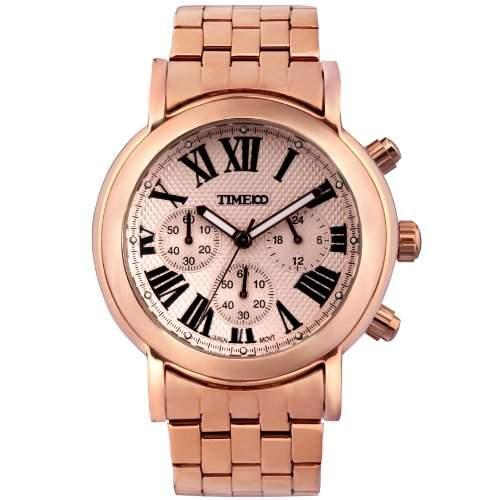 Time100 Moderne Herren-Armbanduhr mit romanischen Nummern-Skalas und drei Anzeigen W80009G03A