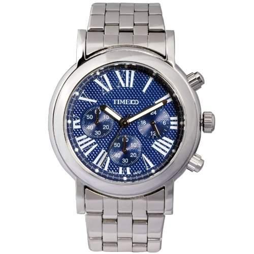 Time100 Moderne Herren-Armbanduhr mit romanischen Nummern-Skalas und drei Anzeigen W80009G04A