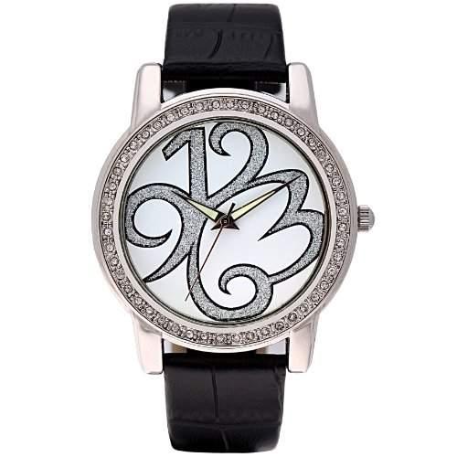 Time100 Kreative Moderne Charateristische Strass-Damen-Armbanduhr W80013L01A
