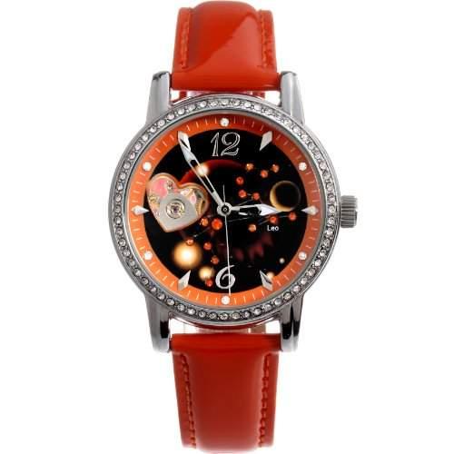 Time100 Sternbild-Serie Damnuhr Maedchenuhr Mechanische Automatik Damen Armbanduhr Loewe #W80050L05A