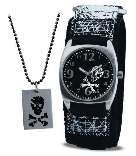Terrain Jungen-Armbanduhr Analog Formgehaeuse schwarz AKB-03