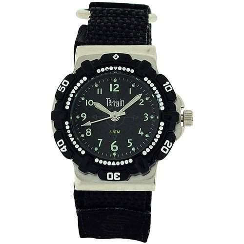 Jungen-Armbanduhr Surfer-Sportuhr, schwarz - bis 50 m wasserdicht 970L