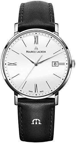 Maurice Lacroix Herren-Armbanduhr Analog Quarz Leder EL1087-SS001-111-1