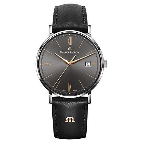 Maurice Lacroix Herren-Armbanduhr Analog Quarz Leder EL1087-SS001-812-1