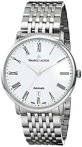 Maurice Lacroix Les Classiques Tradition Gents Uhr, Edelstahl, Weiss