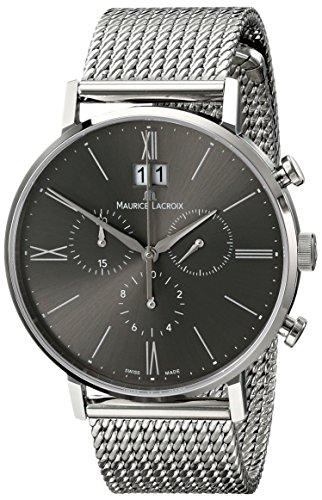 Maurice Lacroix Herren el1088 ss002 810 Eliros Analog Display Armbanduhr Analog silber Quarz