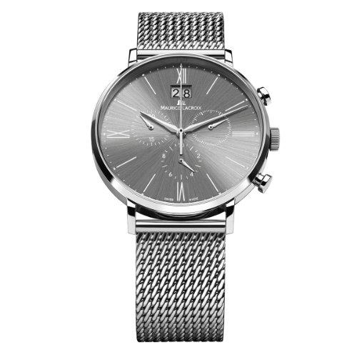 Maurice Lacroix Herren Armbanduhr XL Eliros Chronograph Quarz Edelstahl EL1088 SS002 810