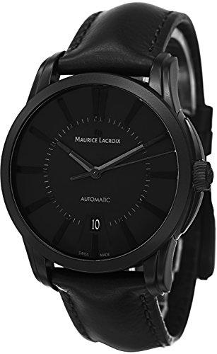 Maurice Lacroix Pontos Date Full Black Automatik Uhr PVD PT6148 PVB01 330 1