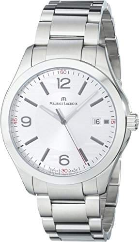 Maurice Lacroix Herren-Armbanduhr XL Miros Analog Quarz Edelstahl MI1018-SS002-130