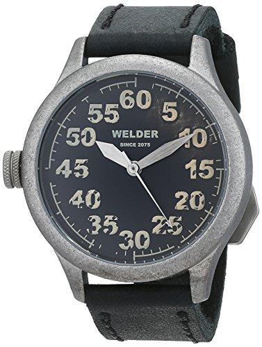 Welder K20 504 Lederband und analoges Zifferblatt Schwarz