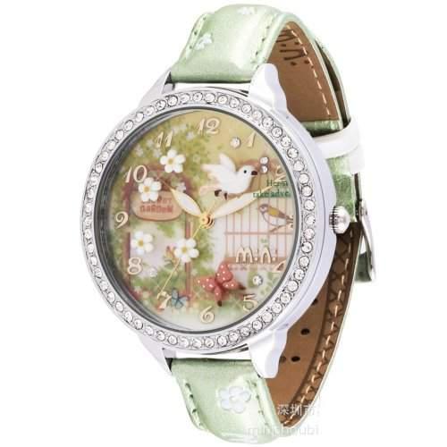 ufengke® mode strass kinder armbanduhren fuer maedchen-vogelblume geheimen garten thema