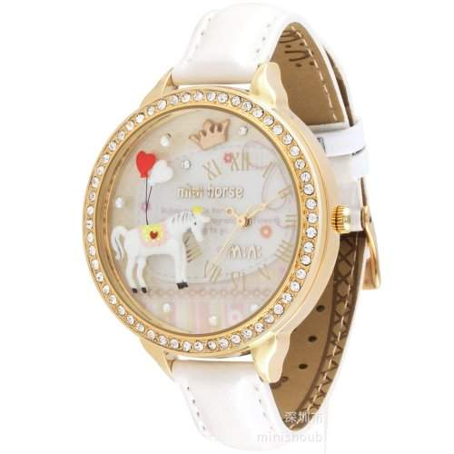 ufengke® mini-luxus- -band mode einzigartigen armbanduhren-weissen pferd thema