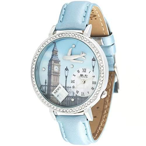 ufengke® strass mode kreative kinder handgefertigten fimo- armbanduhren -flugzeug uhrturm thema