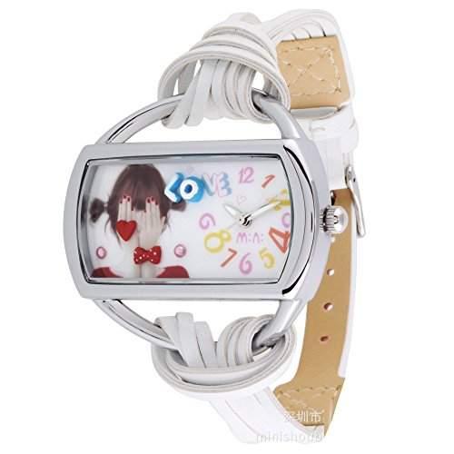 ufengke® kreative cartoon mode damefrauenmaedchen abkuehlen armbanduhren-weisses band weisses rechteck liebesthema