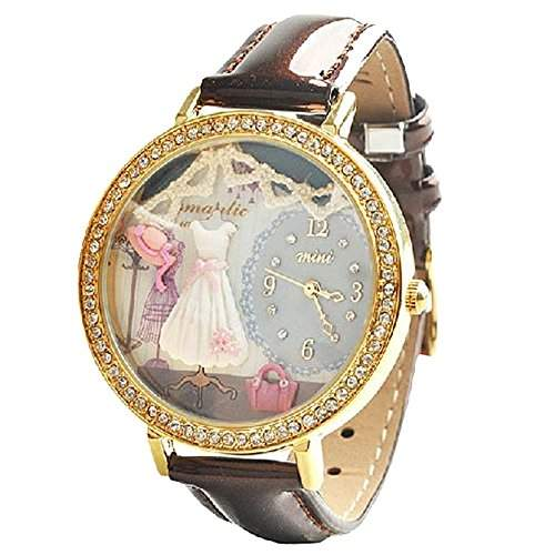 ufengke® mode coole mini 3d-comic-polymer claykinderkinder armbanduhren-romantischen datierung thema