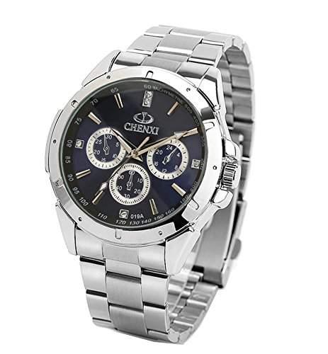 ufengke® mode laessig leuchtenden strass handgelenk armbanduhren,wasserdicht armbanduhren fuer maenner-blau, dekorative kleine Zifferblaetter