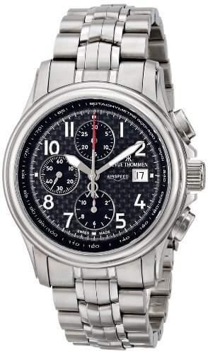Revue Thommen Herren 160416137 Airspeed Carbon-Chronograph Automatic Black Dial Uhr