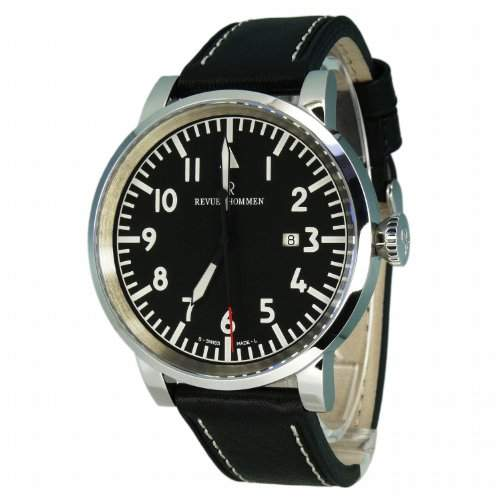 Revue Thommen Herren-Armbanduhr XL Analog Automatik Leder 160532537